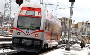 """Dyskutowany od ponad 10 lat projekt """"Rail Baltica"""" między jego udziałowcami wciąż wywołuje więcej sporów niż zbieżności zdań Fot. Marian Paluszkiewicz"""