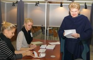 Zdaniem większości ekspertów, tegorocznych wyborów Grybauskaitė raczej nie uda się wygrać już w pierwszej turze Fot. Marian Paluszkiewicz