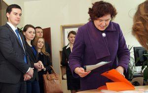 Przedstawiciele kandydata zarejestrowali go jako uczestnika kampanii politycznej w wyborach prezydenckich Fot. Marian Paluszkiewicz