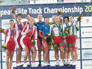 Podczas wręczania nagród w mistrzostwach Europy Fot. archifum