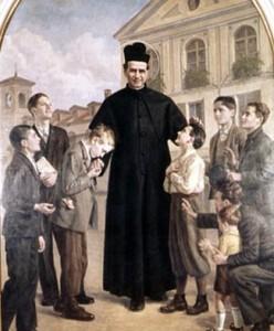 św. Jan Bosko z dziećmi ulicy