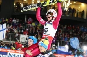 Kamil Stoch zdobył złoty medal igrzysk w Soczi w konkursie na normalnej skoczni Fot. archiwum