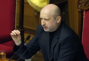 Pełniący obowiązki prezydenta Ołeksandr Turczynow oświadczył, że państwo nie ma ani grosza                                 Fot. EPA-ELTA