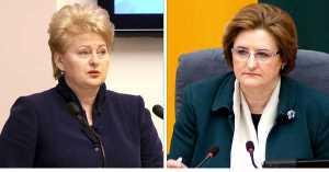 Przed wyborami parlamentarnymi 2012 roku Grybauskaitė oskarżała Partię Pracy o służenie oligarchom, w tegorocznej prezydenckiej kampanii zarzuca im współpracę z Kremlem<br/>Fotomontaż Marian Paluszkiewicz