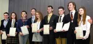Laureaci XXV Olimpiady Języka Polskiego w Wilnie Fot. Marian Paluszkiewicz