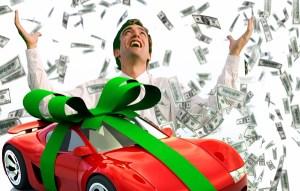 Gdy nagle człowiek wygrywa milion, na początku jest szczęśliwy, zadowolony Fotomontaż Marian Paluszkiewicz