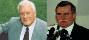 Algirdas Brazauskas  i Lech Wałęsa