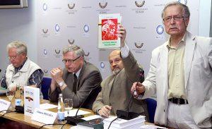 """Prezentacja książki """"Obcy w domu Litwinów"""" posłużyła okazją do wylania antypolskich frustracji w przededniu wyborów do Parlamentu Europejskiego Fot. Marian Paluszkiewicz"""