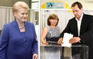 Dalia Grybauskaitė — ponownie prezydentem Litwy, jak też lider AWPL Waldemar Tomaszewski  — europosłem            Fot. Marian Paluszkiewicz
