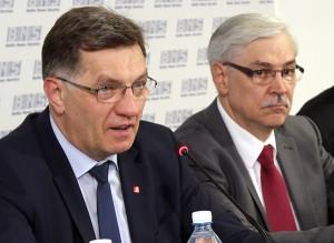 Premier Algirdas Butkevičius  z Zigmantasem Balčytisem          Fot. Marian Paluszkiewicz