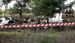Samolot spadł w okolicach lotniska, w Jedlińsku                 Fot. ELTA