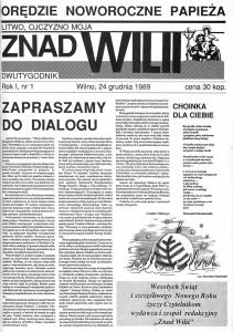 Pierwszy numer czasopisma — jako dwutygodnika (1989)