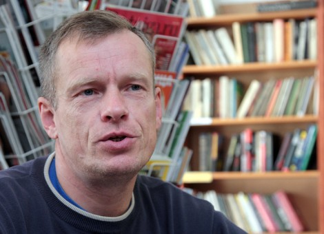 "Arvydas Juknevičius, bukinista, właściciel księgarni ""Gera knyga"" Fot. Marian Paluszkiewicz"