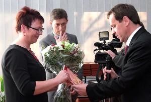 Gratulacje z okazji jubileuszu złożył również europoseł Waldemar Tomaszewski Fot. Marian Paluszkiewicz