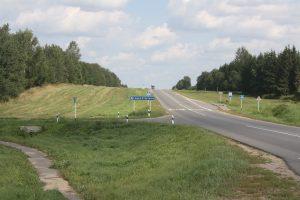 Kierunek z leżącej nad Kropiwną Gadźkowszczyny na Dubrowno, akurat w tę stronę uciekały kiedyś wojska rosyjskie po zadanej im klęsce Fot. Waldemar Szełkowski