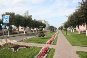 Należy przyznać, że centrum Orszy ogólnie zadbane. Przyczyniła się ku temu coroczna tradycja prezydenta Łukaszenki świętowania dożynek każdego roku w innym mieście Białorusi Fot. archiwum