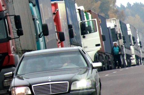 Kierowcy litewscy mają problem nie tylko z wjazdem do Rosji, ale też i z wyjazdem Fot. Marian Paluszkiewicz