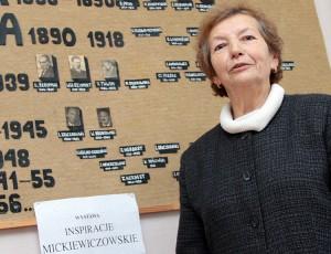 Polonistka Szkoły Rolniczej w Bukiszkach Bronisława Borowik Fot. Marian Paluszkiewicz