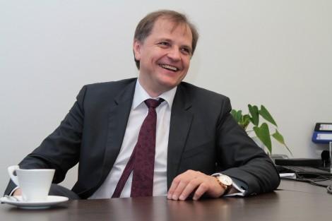 Przedsiębiorca Jurij Konczanin, kierownik międzynarodowej spółki Carglass na Litwie
