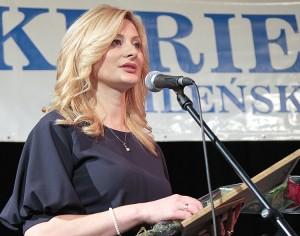 Rita Tamašunienė dziękowała organizatorom za konkurs, a Czytelnikom za ich wybór Fot. Marian Paluszkiewicz