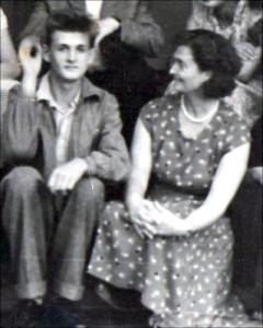 Zofia Gulewicz z synem Włodzimierzem