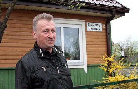 """""""Nawet nie wyobrażam sobie, żeby ulica 3 Maja nosiła inną nazwę"""" — mówi Jan    Fot. Marian Paluszkiewicz"""