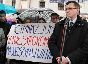 Prezes Rady szkoły Wiktor Łowczyk twierdzi, że prawo jest po stronie szkoły Fot. Marian Paluszkiewicz