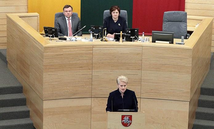 6. orędzie Grybauskaitė — stonowane, mniej wojownicze
