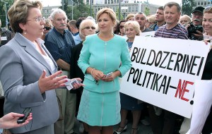 Radne samorządu z ramienia AWPL Renata Cytacka oraz Edita Tamošiūnaitė