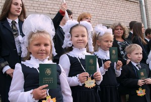 """Gimnazjum """"Żejmiana"""" jest najstarszą i jedyną polską szkołą w rejonie święciańskim Fot. Marian Paluszkiewicz"""