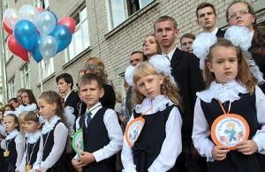 W tym roku naukę w podbrodzkiej placówce rozpoczęło niespełna 30 pierwszaków w dwóch — polskim i rosyjskim — pionach Fot. Marian Paluszkiewicz
