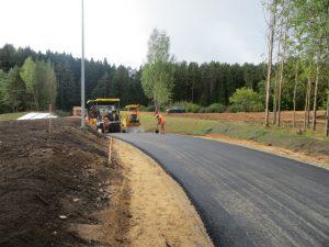 Wykonano prace ułożenia asfaltowej rolkostrady