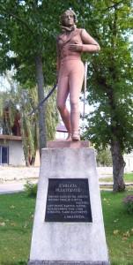 Bohaterkę upamiętniono pomnikiem ustawionym na centralnym skwerze Kopciowa Fot. archiwum