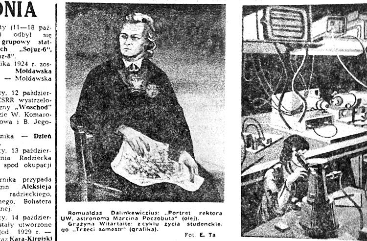 Romuladas Dalinkewiczius: Portret rektora UW, astronoma Marcina Poczobuta (olej) Fot. E. T.