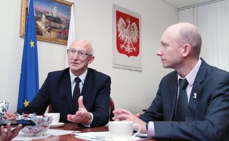Henryk Szymański oraz Krzysztof Januszkiewicz opowiadają o konferencjach matchmakingowych, które odbędą się w Wilnie w październiku i listopadzie Fot. Marian Paluszkiewicz