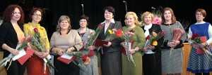 Gratulacje dla nauczycielek języka rosyjskiego Fot. Marian Paluszkiewicz