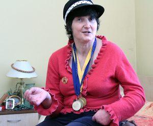Pensjonariuszka Alina Fiodorowa Fot. Marian Paluszkiewicz