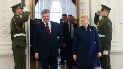 Prezydent Ukrainy Petro Poroszenko spotkał się wczoraj z Dalią Grybauskaitė Fot. ELTA