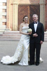 W 2008 r. w pałacu odbyło się huczne wesele Pinkevičiusa z Astą Valentaitė  Fot. archiwum