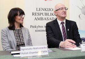 Agnieszka Maliszewska, dyrektor Polskiej Izby Mleka oraz radca-minister Henryk Szymański, kierownik WPHI w Wilnie Fot. Marian Paluszkiewicz