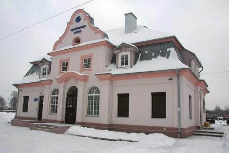 Stacja kolejowa w Rudziszkach. Stan obecny Fot. autor