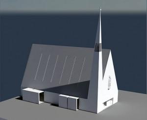 W ciągu 8 miesięcy zrobiono makietę kościoła Fot. archiwum