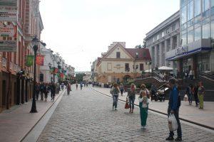 W centrum Grodna, co prawda, brakuje większej liczby kawiarenek, ale pomimo to odczuwa się klimat miasta europejskiego Fot. Waldemar Szełkowski