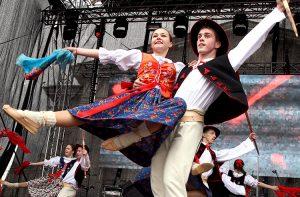Publiczność bawiły polskie zespoły z Litwy Fot. Marian Paluszkiewicz