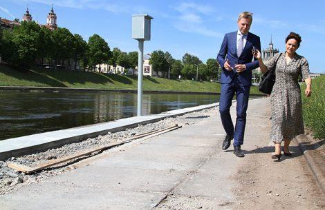 W czerwcu zostanie oddany do użytku odcinek nabrzeży Wilii w pobliżu Mostu Mendoga Fot. Marian Paluszkiewicz
