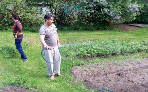 Mają swój ogródek, hodujemy rzodkiewkę, ziemniaki, sałatę Fot. Honorata Adamowicz