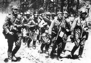 Litewska jednostka wojskowa 6 lipca 1941 roku Fot. Archiwum
