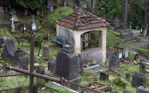 Zwalone krzyże, pomniki porosłe mchem stopniowo popadają w zapomnienie Fot.