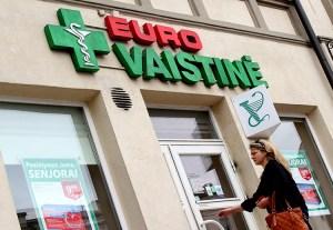 """Jedną z największych sieci aptek prywatnych na Litwie jest """"Eurovaistinė"""" Fot. Marian Paluszkiewicz"""