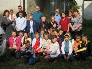 Spotkanie z uczniami szkoły w Starel Soli na Ukrainie. Stary Sambor, październik 2016 r.
